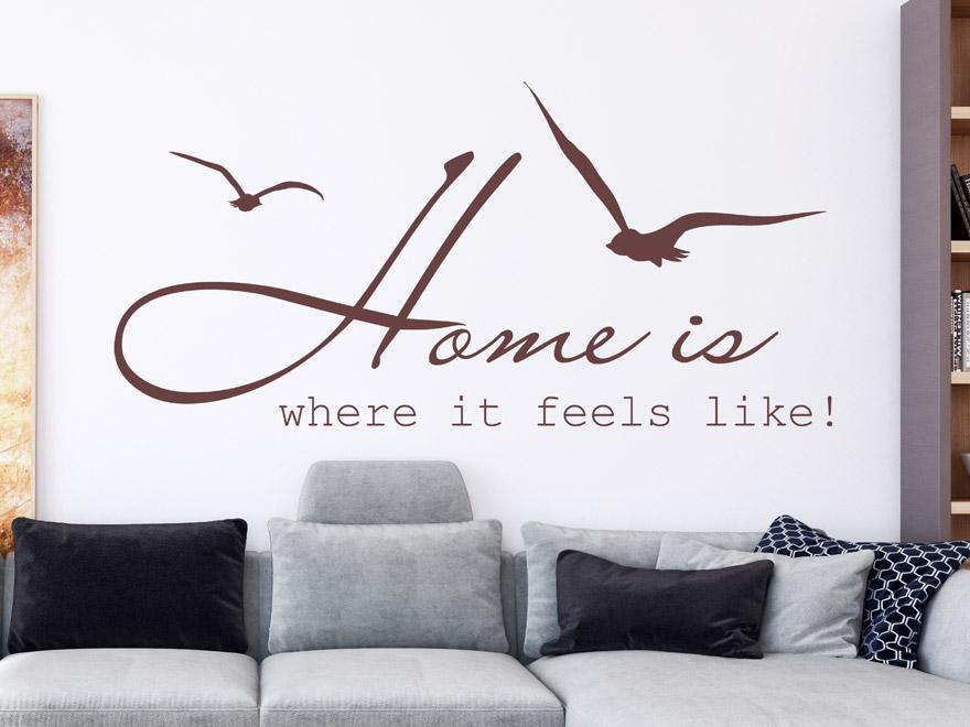 Wandtattoo home is where von - Wandtattoo home ...
