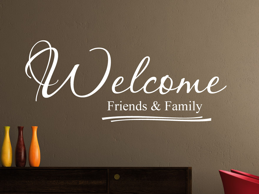 Wandtattoo friends and family welcome von - Wandtattoo family ...