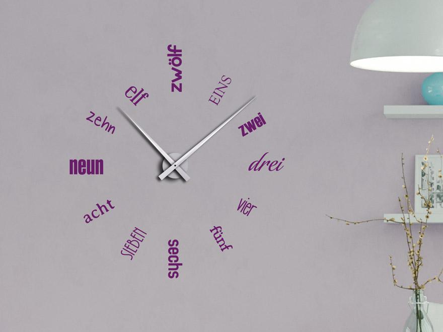 Wandtattoo Uhr Zahlen Aus Schriften Von Wandtattoo Net