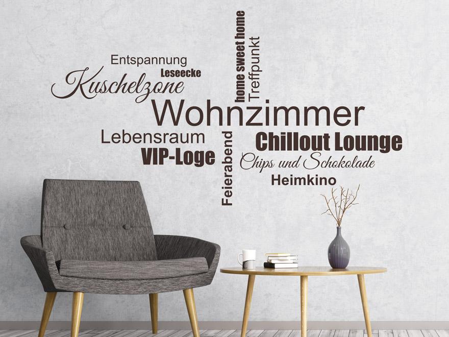 Wandtattoo Wohnzimmer, Kuschelzone, Vip-Loge... von Wandtattoo.net
