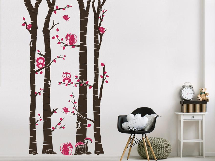 wandtattoo birkenwald f r kinder von. Black Bedroom Furniture Sets. Home Design Ideas