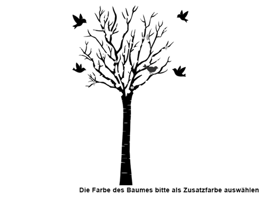 Farbe Auswählen Für Wandtattoo Garderobe Baum Mit Vögeln