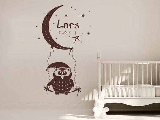 tolles wandtattoo traumhafte gute nacht eule von. Black Bedroom Furniture Sets. Home Design Ideas