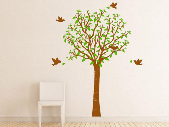 Kinderzimmer Tapeten Baum : Baum Wandtattoo Im Kinderzimmer Tapete Gestaltung Kommode Gruen Lampe
