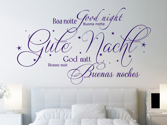 schlafen wandtattoo worte f rs schlafzimmer wandtattoos. Black Bedroom Furniture Sets. Home Design Ideas