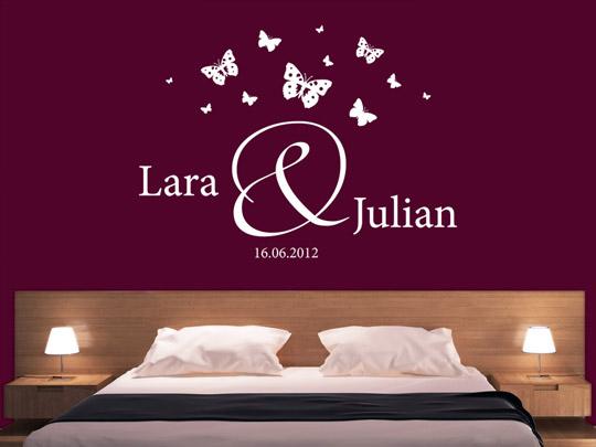 wandtattoo hochzeit traumhafte wandtattoos rund ums heiraten. Black Bedroom Furniture Sets. Home Design Ideas