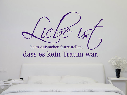 wandtattoo verliebt spruch wandtattoos zum thema liebe. Black Bedroom Furniture Sets. Home Design Ideas
