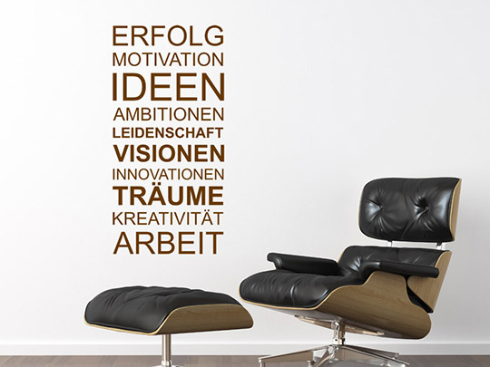 b ro wandtattoo worte f rs b ro arbeitszimmer wandtattoos. Black Bedroom Furniture Sets. Home Design Ideas