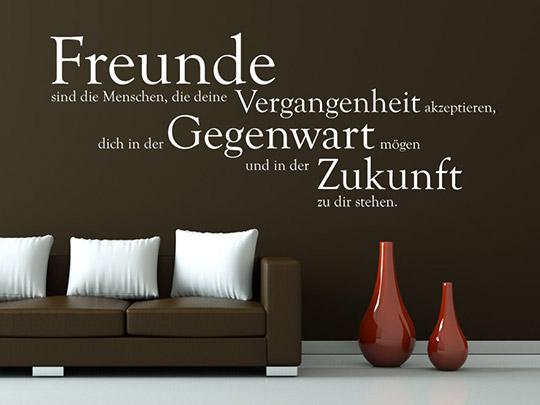 wandtattoo freunde sind die menschen spruch von. Black Bedroom Furniture Sets. Home Design Ideas