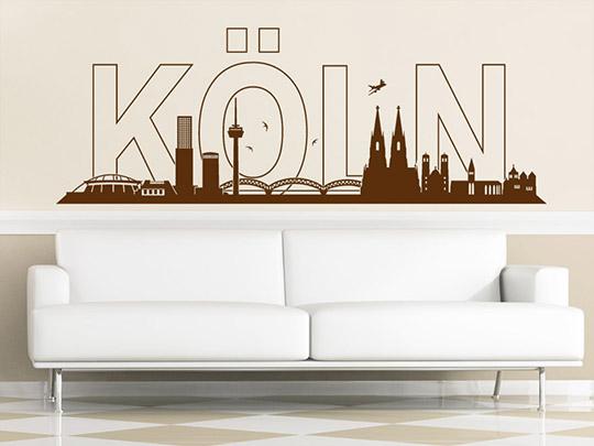 stadt wandtattoo k ln skyline wandtattoo von. Black Bedroom Furniture Sets. Home Design Ideas