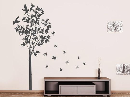 wandtattoo herbstbaum von. Black Bedroom Furniture Sets. Home Design Ideas