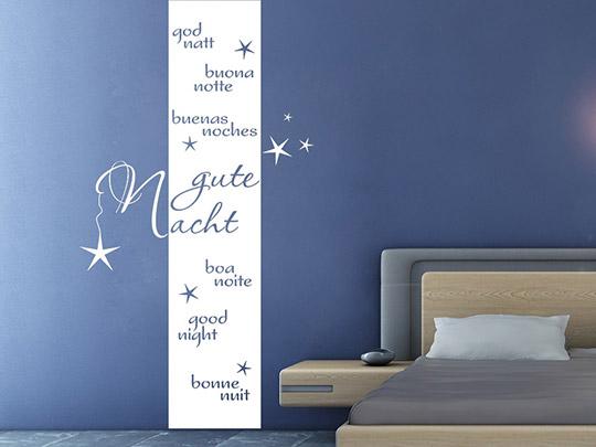 Wandtattoo banner gute nacht von for Wandtattoo banner
