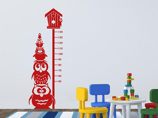 wandtattoo messlatte eulen von. Black Bedroom Furniture Sets. Home Design Ideas