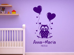 wandtattoo f rs babyzimmer s e wandtattoos im babyzimmer. Black Bedroom Furniture Sets. Home Design Ideas