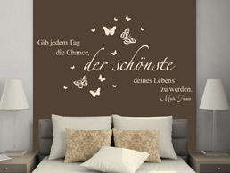 wandtattoo f rs schlafzimmer traumhafte wandtattoos im. Black Bedroom Furniture Sets. Home Design Ideas