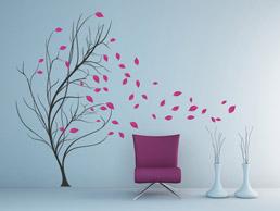 wandtattoo baum mit v geln von. Black Bedroom Furniture Sets. Home Design Ideas