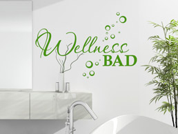 Wandtattoo Wellness Bad
