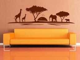 Wandgestaltung Schlafzimmer Afrika