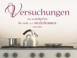 Küche Zitat Wandtattoo - Zitate rund ums Essen und Trinken als ...