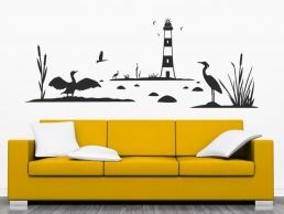wandtattoo in diesem haus wird gelebt spruch von. Black Bedroom Furniture Sets. Home Design Ideas