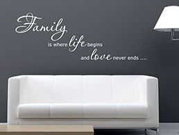 Wandtattoo Family is ...