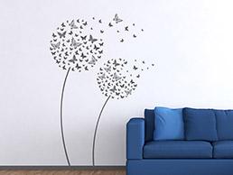 Wandtattoo pflanze blumen b ume und bl ten als pflanzen - Wandtattoo pusteblume schmetterling ...